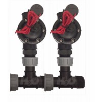 Dorot 80 Series 25mm Irrigation Solenoid Valve X 2 with 25mm Manifold