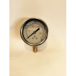Water Pressure Gauges 0-250kPa 65mm Glycerin Stainless steel Case