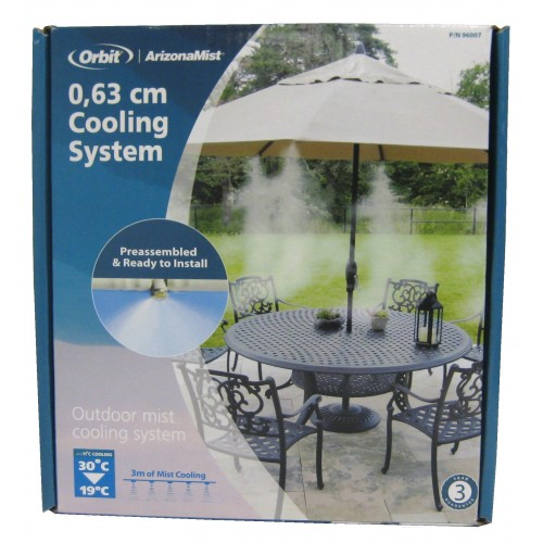 Orbit Misting System : Orbit portable misting kit outdoor mist cooling system