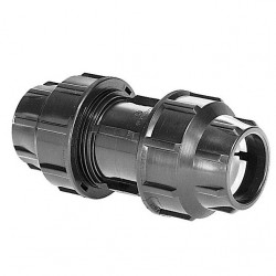 Plassim Metric Compression Fittings Coupling Poly X Poly 32mm x 32mm